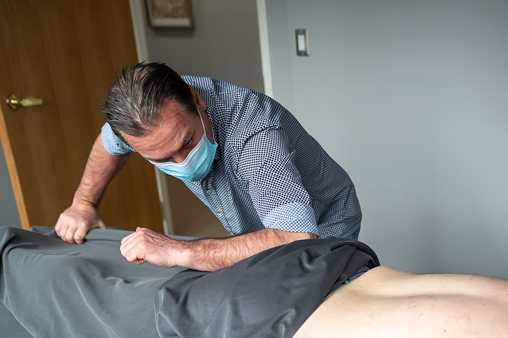 Bob doing joint therapy to a hip